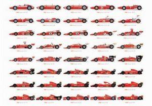 Formula One Wall Murals Ferrari Evolution Poster