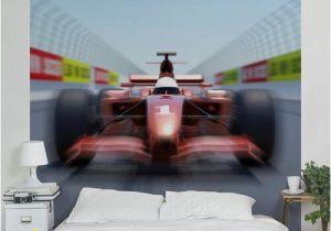 Formula One Wall Murals Racing Car 1 92m X 1 92m Textured Matte Peel & Stick Wall