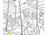 Four Friends Help A Paralyzed Man Coloring Pages 13 Best Jesus Heals Paralyzed Man Images
