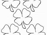 Four Leaf Clover Coloring Pages Printable 4 Leaf Clover Coloring Page Coloring Home
