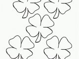 Four Leaf Clover Coloring Pages Printable Printable 4 Leaf Clover Coloring Home