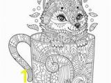 Fox Mandala Coloring Pages Zentangle Fox Coloring Page Print Science☼