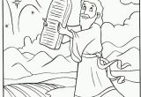 Free Bible Coloring Pages Ten Commandments Download Print Moses Receives Ten Mandments Coloring