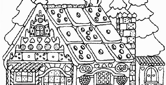 Free Christmas Coloring Pages Gingerbread House Christmas Coloring Pages for Adults Gingerbread House 12