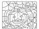 Free Color by Number Halloween Coloring Pages Ausmalbild Malen Nach Zahlen Kürbisse Ausmalen K