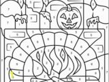 Free Color by Number Halloween Coloring Pages Hard T