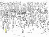 Free Coloring Pages Ark Of the Covenant King David Dancing before the Ark Of the Covenant Coloring Page