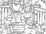 Free Coloring Pages Baby Jesus In A Manger Nativity Baby Jesus In A Manger Coloring Page Kids