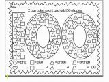 Free Coloring Pages for 100th Day Of School 100th Day Of School Coloring Pages Printable Kids Super