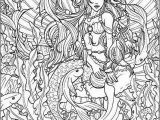 Free Coloring Pages for Adults Printable Hard to Color Adult Printable Mermaid Coloring Pages Coloring Page for Adults