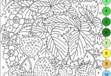 Free Coloring Pages for Adults Printable Hard to Color Nicole S Free Coloring Pages Color by Numbers Strawberries and