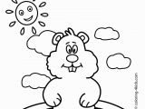 Free Coloring Pages for Groundhog Day Free Groundhog Day Printables Kindergarten New Groundhog Day
