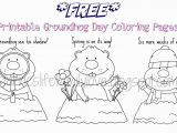 Free Coloring Pages for Groundhog Day Free Printable Groundhog Day Worksheets