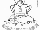 Free Coloring Pages for Groundhog Day Happy Groundhog Day Coloring Pages for Kids 2 February Printable