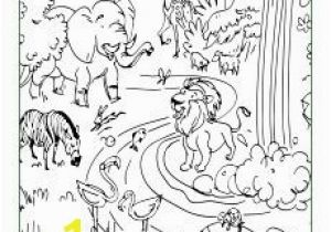 Free Coloring Pages for Vacation Bible School God Made the Animals Coloring Page