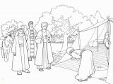 Free Coloring Pages for Zacchaeus Abraham and Three Visitors Coloring Page with Images