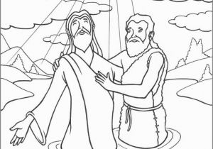 Free Coloring Pages Of Jesus Being Baptized Coloring Page for Kids Staggering Jesus Baptisming Page