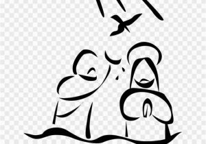 Free Coloring Pages Of Jesus Being Baptized Library Of Banner Black and White Baptism Of Jesus Png Files