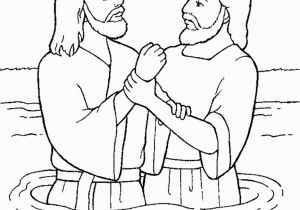 Free Coloring Pages Of Jesus Being Baptized Library Of Clip Art Black and White On Jesus and John the