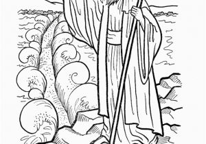 Free Coloring Pages Of Moses and the Red Sea Moses Parts the Red Sea