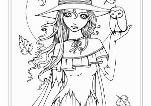 Free Fairy Coloring Pages for Adults to Print Autumn Fantasy Coloring Book Halloween Witches Vampires and