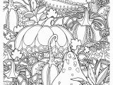 Free Fall Coloring Pages for Kids Fall Pumpkins Berries and Leaves Coloring Page • Free