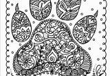 Free Full Size Adult Coloring Pages Instant Download Dog Paw Print You Be the Artist by