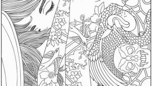 Free Full Size Adult Coloring Pages Wel E to Dover Publications Body Art Tattoo Designs