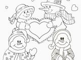 Free Kids Valentine Coloring Pages Valentines Pics to Color New Snowmen to Color Awesome