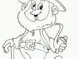 Free Leprechaun Coloring Pages Print Saint Patricks Day Leprechaun Holding Pipe Coloring Page for