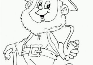 Free Leprechaun Coloring Pages Print Saint Patricks Day Leprechaun Holding Pipe Coloring Page for