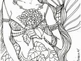 Free Mermaid Coloring Pages for Adults 10 Gorgeous Free Adult Coloring Pages – Julie Erin Designs