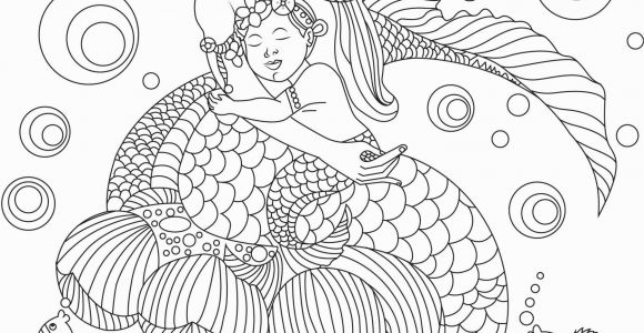 Free Mermaid Coloring Pages for Adults Free Beautiful Mermaid Adult Coloring Book Image From