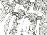 Free Mermaid Coloring Pages for Adults Free Printable Coloring Pages for Adults Mermaids Gallery