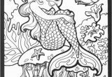 Free Mermaid Coloring Pages for Adults Pretty Mermaid Realistic Mermaid Coloring Pages for Adults