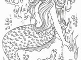 Free Mermaid Coloring Pages for Adults Realistic Mermaid Illustrations Undersea Coloring Sheets