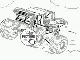 Free Monster Truck Coloring Pages Bigfoot Monster Truck Coloring Page for Kids Transportation