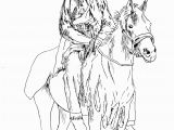 Free Native American Indian Coloring Pages Native American On His Horse Native American Adult