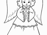 Free Nativity Coloring Pages Christmas Angel Christmas Coloring Page
