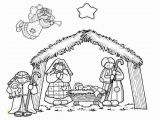 Free Nativity Coloring Pages Manger Line Drawing Google Search