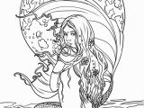Free Ocean Coloring Pages Mermaid Myth Mythical Mystical Legend Mermaids Siren Fantasy