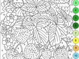 Free Online Adult Coloring Pages Nicole S Free Coloring Pages Color by Numbers Strawberries and