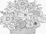 Free Online Coloring Pages for Adults Flowers Print Cute Flower Adult Coloring Pages Coloring Home