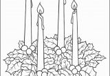 Free Printable Advent Wreath Coloring Pages Advent Candles Coloring Page
