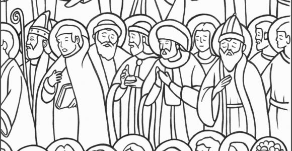 Free Printable All Saints Day Coloring Pages All Saints Day Coloring Page the Catholic Kid Catholic