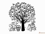 Free Printable Apple Tree Coloring Pages Apple Tree Coloring Pages Downloadable and Printable