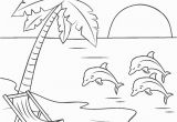 Free Printable Beach Scene Coloring Pages Free Printable Beach Coloring Pages for Kids