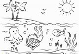 Free Printable Beach Scene Coloring Pages Summer Beach Coloring Pages at Getdrawings