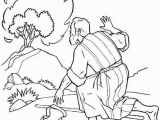 Free Printable Bible Coloring Pages Moses the Incredible Moses Burning Bush Coloring Page to Encourage In