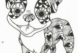 Free Printable Boston Terrier Coloring Pages Boston Terrier Coloring Pages Printable Coloring Home